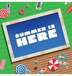 Summer is Here Abstract Background or Card People vector