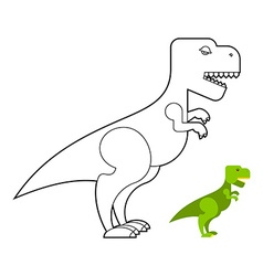 T-rex dinosaur coloring book Scary big vector