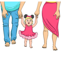The first steps of the child support for parents vector