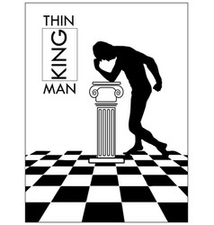 the thinking man in an vector image
