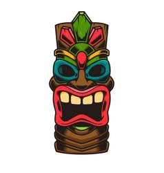 Tiki idol design element for logo label sign vector