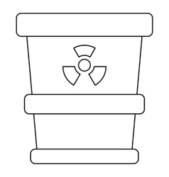 Trash can with radioactive waste icon vector
