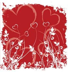 valentine grunge vector image