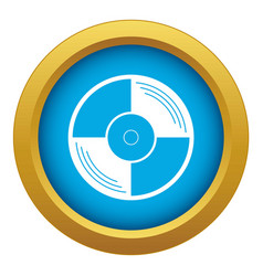vinyl record icon blue isolated vector image