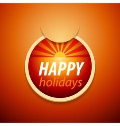 Attach happy holidays sticker vector image vector image