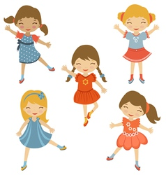 Dancing cuties vector image