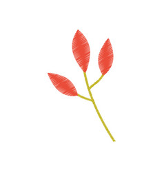 orange leaves branch image sketch vector image
