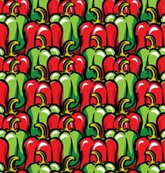 paprika background vector image vector image