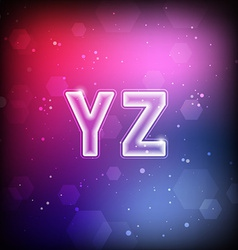 Abstract Font Y-Z vector image vector image