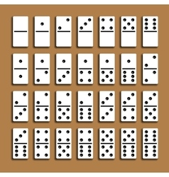 Domino full set vector image