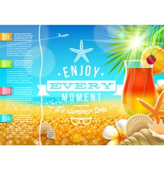 Vacation travel and summer holidays design vector