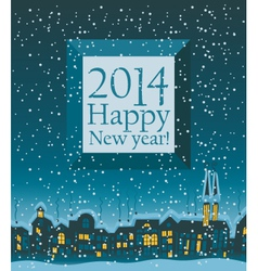 2014 Happy New Year vector image vector image