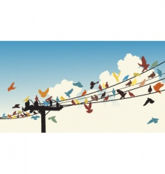 bird roost vector image
