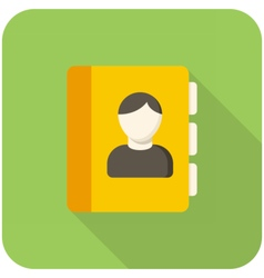 Contacts icon vector image vector image