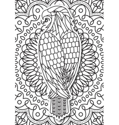 eagle - coloring page for adults in ethnic style vector image vector image