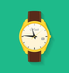 Icon of wrist watch Symbol of hand clock of vector image vector image