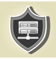 symbol data base technology vector image