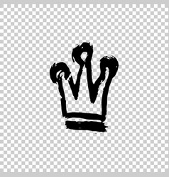 texture strokes thick paint in the form of a crown vector image
