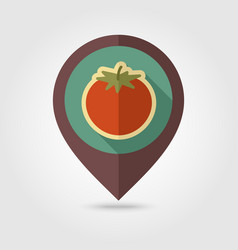 tomato flat pin map icon vegetable vector image vector image