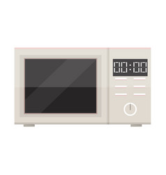 white microwave isolated vector image vector image