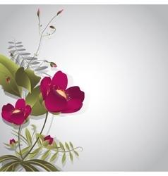 Wild flowers on gray vector image