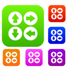 arrow set set collection vector image