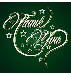 Creative Thank You greeting vector image vector image