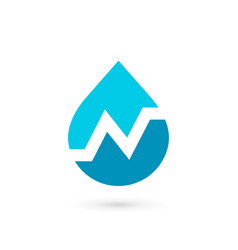 letter n water drop logo icon design template vector image vector image