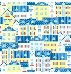 Light background of houses vector image vector image
