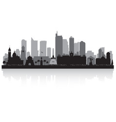manila philippines city skyline silhouette vector image vector image