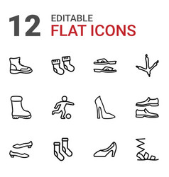 12 foot icons vector