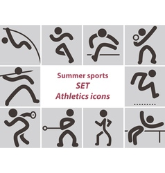 2278 Set of athletics icons vector image
