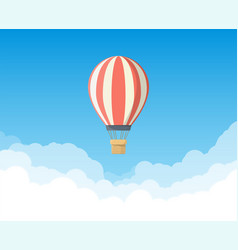 Air balloon in sky vector