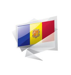 Andora flag on a white vector