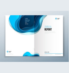 Annual report design paper carve abstract cover vector