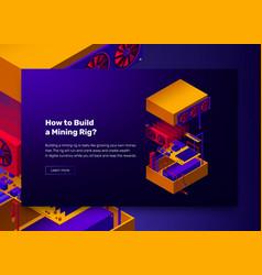 assembles server for mining vector image