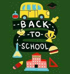 back to school poster background vector image