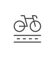 bike lane line outline icon vector image