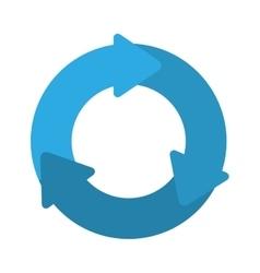 blue arrows icon vector image