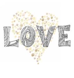 boho love letter vector image