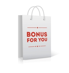 Bonus for you shopping bag vector image