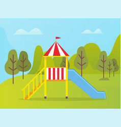 bright slide or playground kindergarten vector image