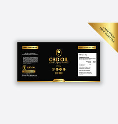 Cbd-label-design-with-golden-color vector
