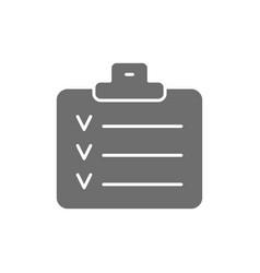 Check list planner schedule notebook grey icon vector