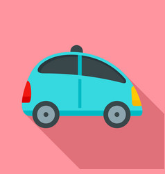 City self driving car icon flat style vector