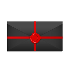 closed envelope sealing wax vector image