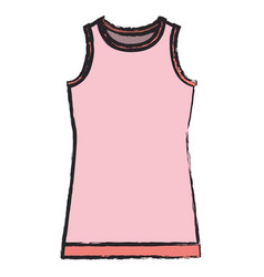 colored blurred silhouette of female t-shirt vector image