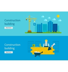 Construction of Building Concept vector image
