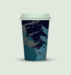Creative watercolor coffee cup vector