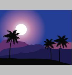 Desert night background vector